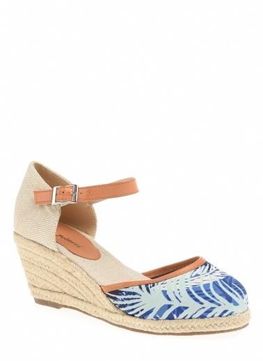 Polaris Polaris Hasır Topuklu  Düz Ayakkabı Lacivert